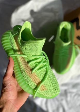 🔥  adidas yeezy 350 🔥 женские кроссовки салатовые