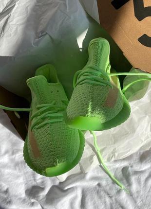 🔥  adidas yeezy 350 🔥 женские кроссовки салатовые2 фото