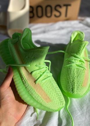 🔥  adidas yeezy 350 🔥 женские кроссовки салатовые4 фото