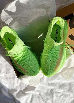 🔥  adidas yeezy 350 🔥 женские кроссовки салатовые5 фото