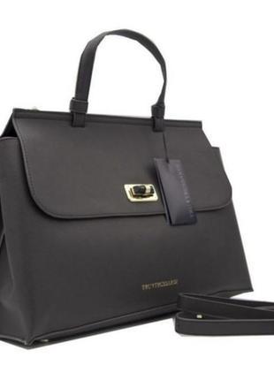 Шикарная сумка кожа tru trussardi