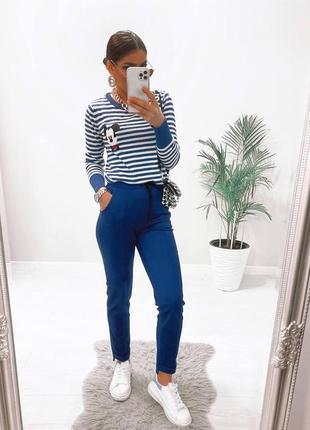 Женские брюки замшевые