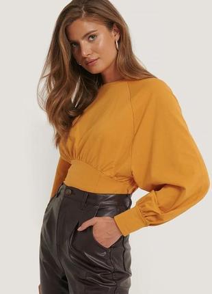 Новый коттоновый свитшот блуза кофточка na-kd