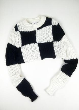 Крутой вязаный кроп свитер asos collusion