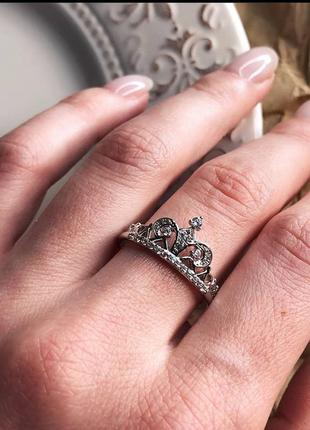 Ювелирное кольцо корона с фианитами