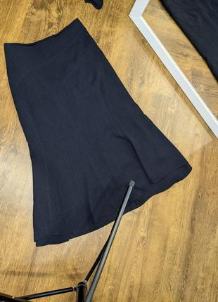 Костюм тройка: блузка, жилетка, юбка миди.7 фото