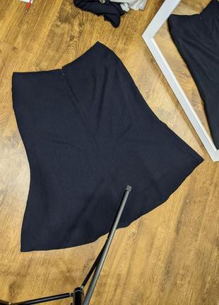 Костюм тройка: блузка, жилетка, юбка миди.8 фото