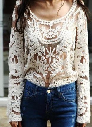 Ажурная блуза new look