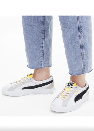 Стильные кожаные кроссовки кеды сникерсы puma love wh women's