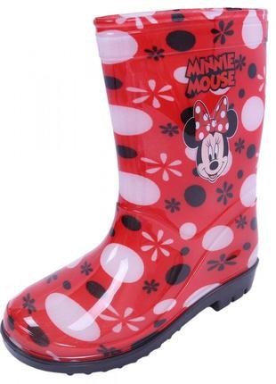 "Резиновые сапожки ""minnie mouse"" резиновые сапоги   для девочки"