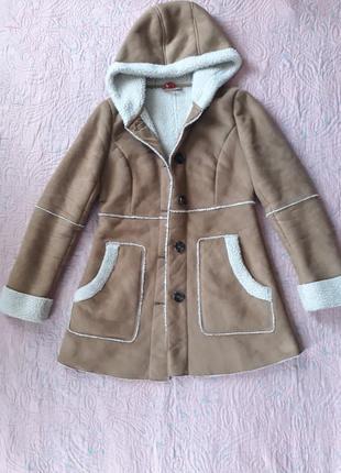 Пальто куртка весна зима дубленка тедди  36 размер