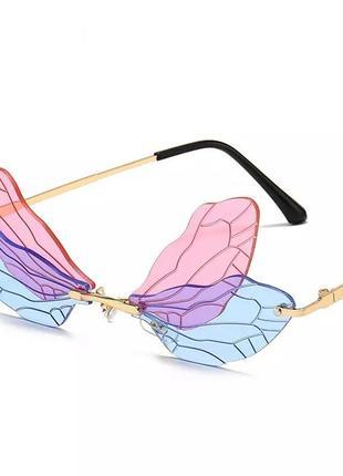 Очки бабочка лепестки для вечеринки корпоратива игр