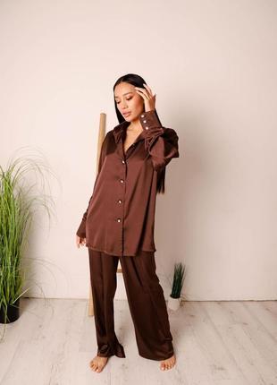 Пижамний костюм кроя оверзайз, піжама, одяг для дому