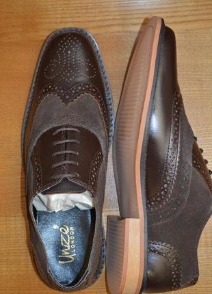 Кожаные туфли оксфорды unze london