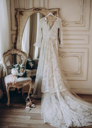 Восхитительное свадебное платье в стиле бохо-шик из коллекции wild soul от rara avis