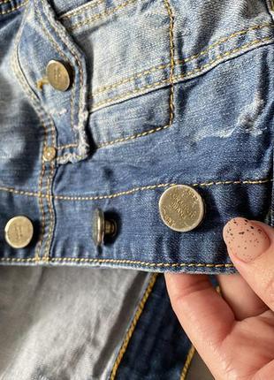 Укороченная джинсовая куртка6 фото