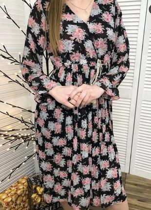 Платье плиссе шифоновое