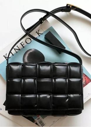 Женская сумка кожа в стиле bottega veneta
