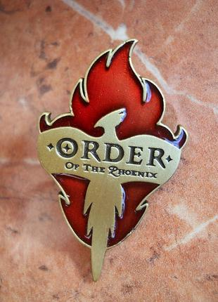 Значок орден феникса, гарри поттер, брошь на зажиме, косплей