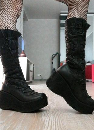 Сапоги,  ботинки, панк, рок, демисезонные,  платформа,  батфорты,  танкетка