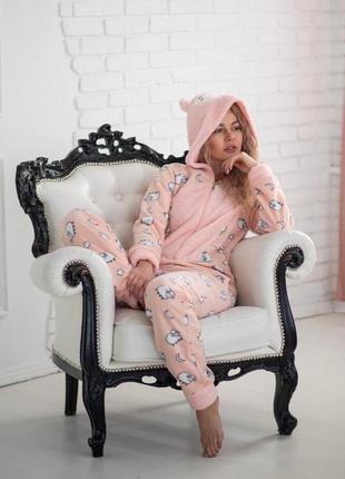 Пижама попожама флисовая