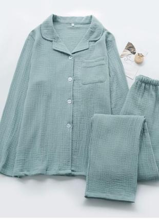 Пижама из муслина (100% хлопок)