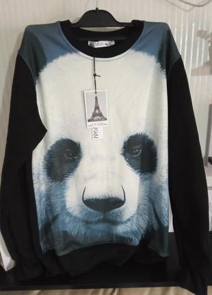 Свитшот  принт панда 🐼,унисекс