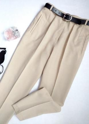 Стильные брюки с высокой посадкой marks&spencer