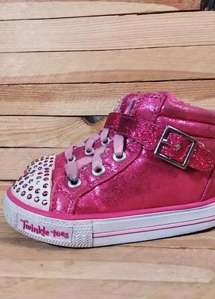 Skechers lights кроссовки кеды ботинки мигалки
