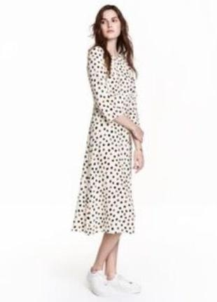 Очень красивое миди платье h&m с открытой спиной