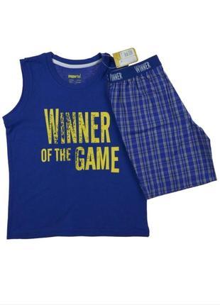 Пижама для мальчика майка и шорты pepperts