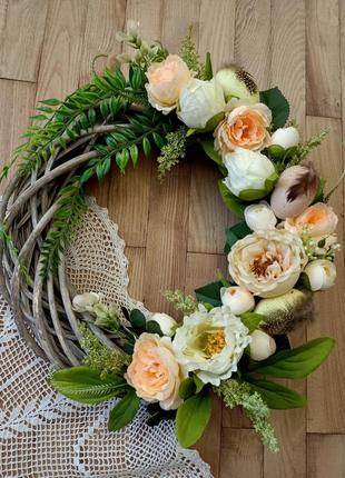 Весенний венок, пасхальный декор, на страничке много красоты, добро пожаловать!