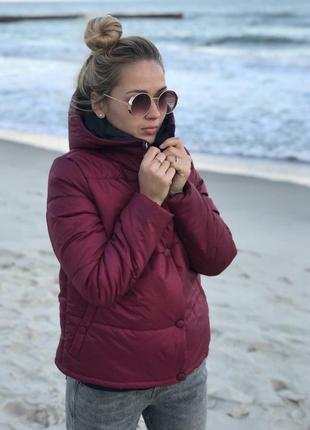 Бордовая курточка на весну