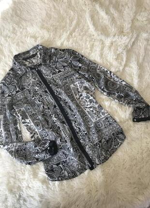 Невероятная атласная рубашка блуза в готическом гротескном стиле