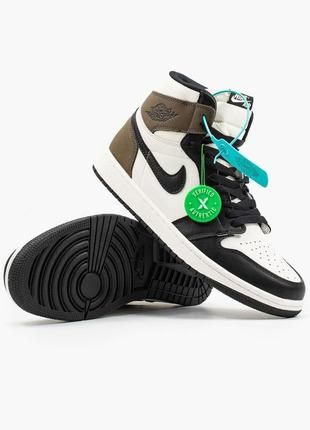 Мужские кроссовки nike air jordan 1 retro black brown  40-41-42-43-44-45