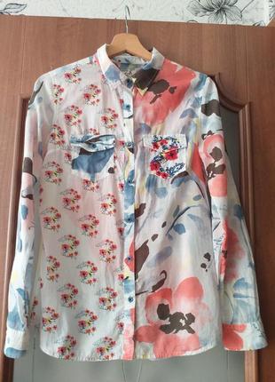 Desigual  тонкая коттоновая рубашка