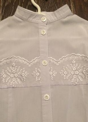 Новая школьная блуза для девочки 128 рост
