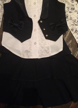 Школьный костюм для девочки рост 128-134