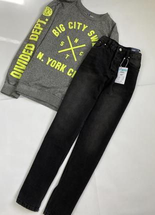 Новые трендовые мом джинсы с высокой посадкой