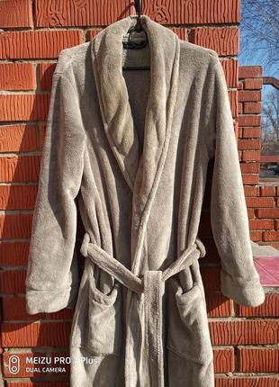 Мягкий, пушистый флисовый халат. tcm tchibo