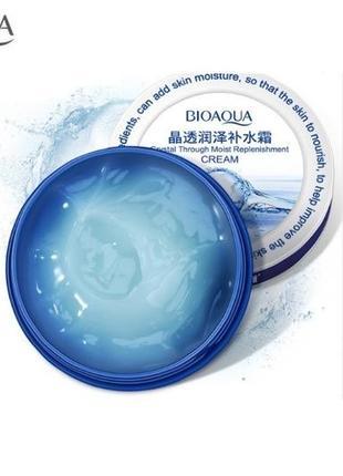 Крем от морщин подтяжка гель для лица с гиалуроновой кислотой bioaqua crystal