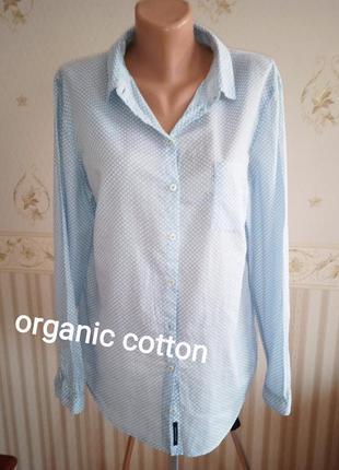 """Р.40 """" marc o'polo"""" блуза рубашечного кроя,органический хлопок"""