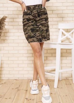 Джинсовая юбка милитари, xs-s, 164r2074 , юбочка