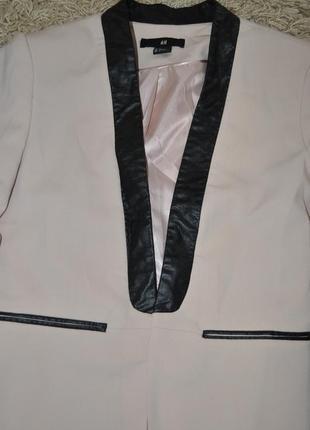 Пиджак с кожаными вставками h&m3 фото
