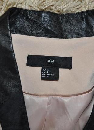 Пиджак с кожаными вставками h&m4 фото