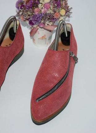 Кожаные туфли zip made in italy