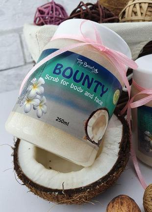 Сахарный скраб для лица и тела top beauty bounty scrub