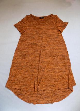 Платье-футболка  свободного кроя