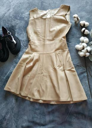 Классное платье кожзам