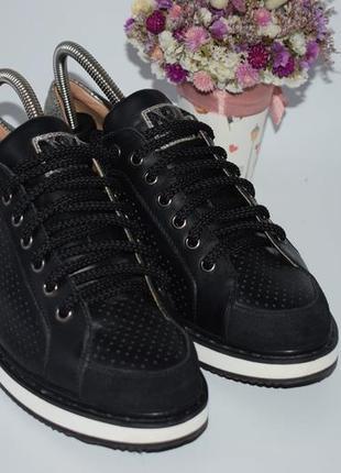 Кожаные кроссовки mm paris